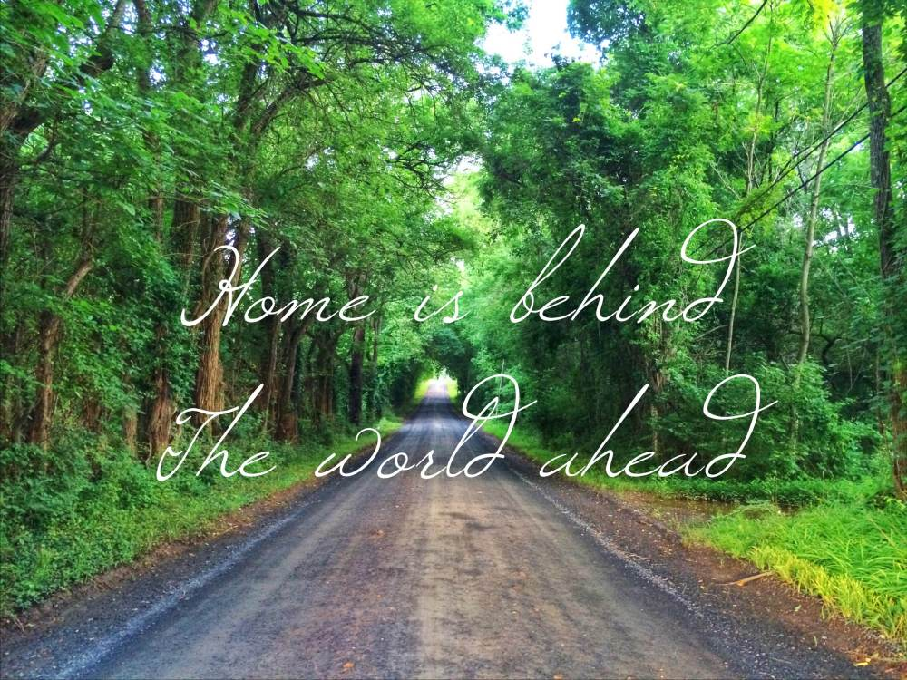 Home is behind