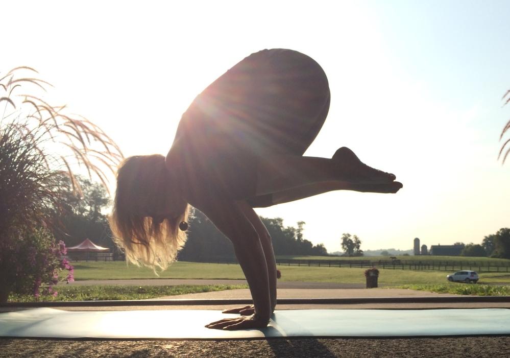 crow pose w: sun